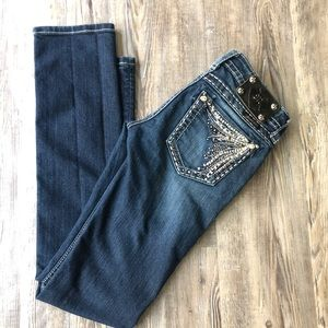 MISS ME EXCLUSIVELY FOR BUCKLE STRAIGHT JEANS 25